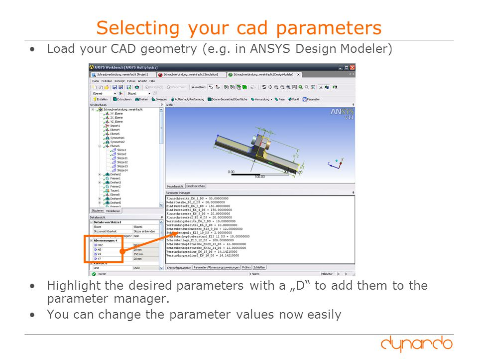 Selecting your cad parameters