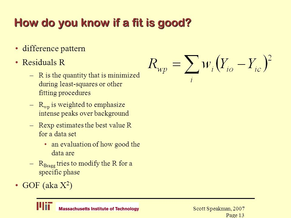How do you know if a fit is good