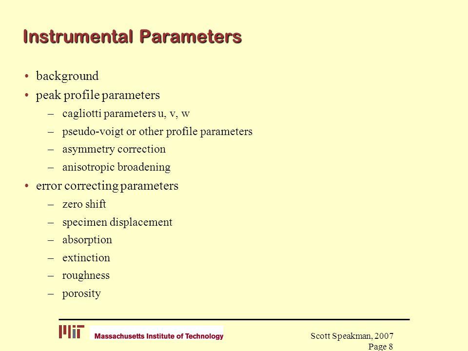 Instrumental Parameters