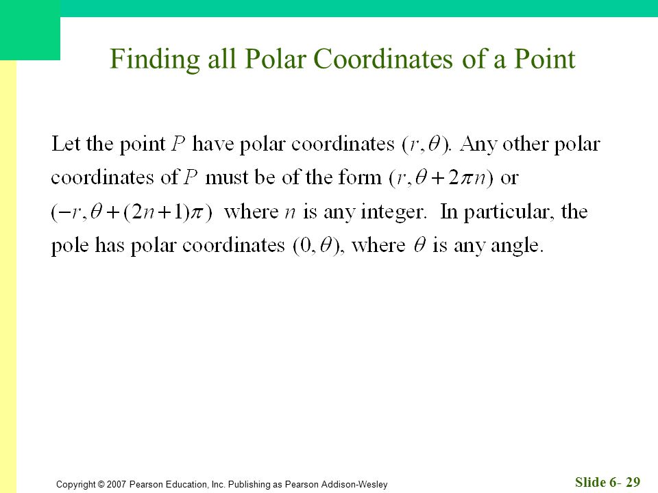 Finding all Polar Coordinates of a Point