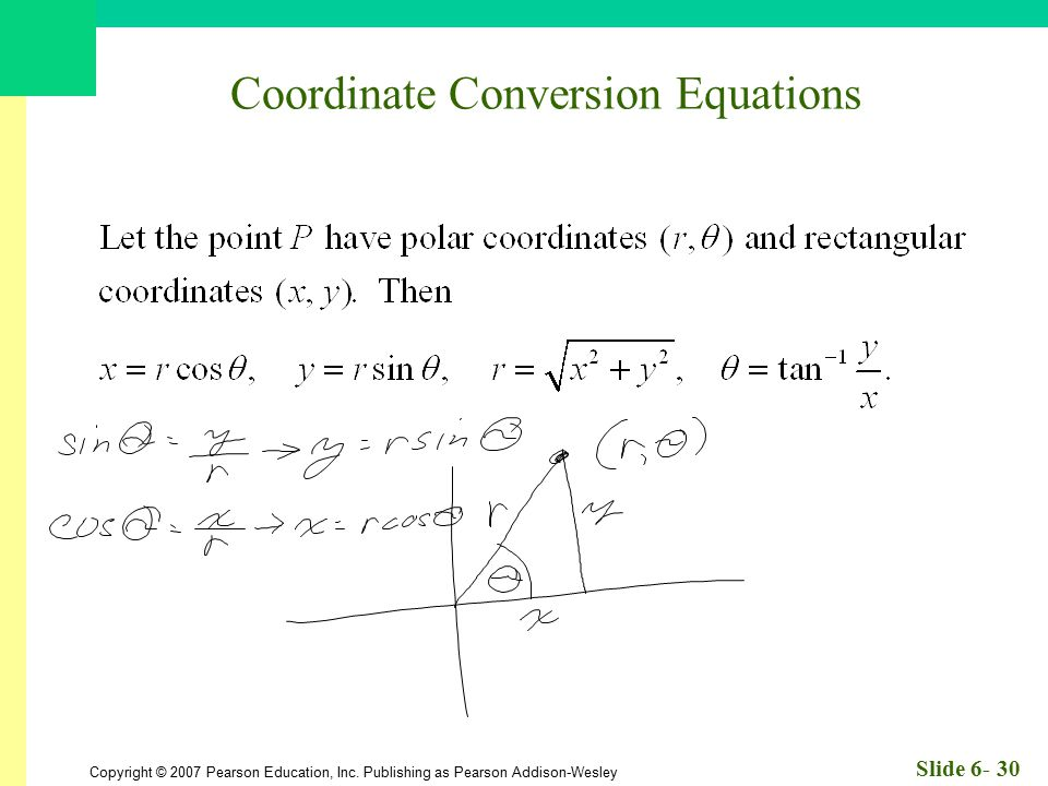 Coordinate Conversion Equations