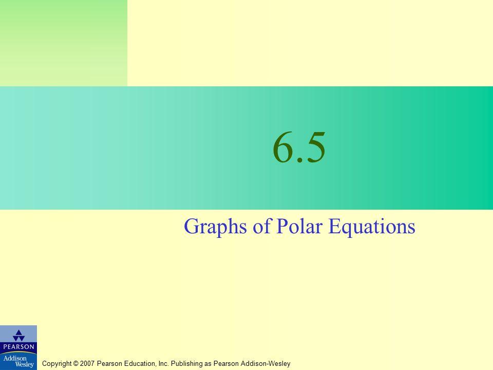 Graphs of Polar Equations