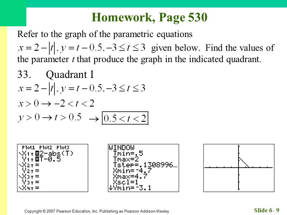 Homework, Page 530 33. Quadrant I
