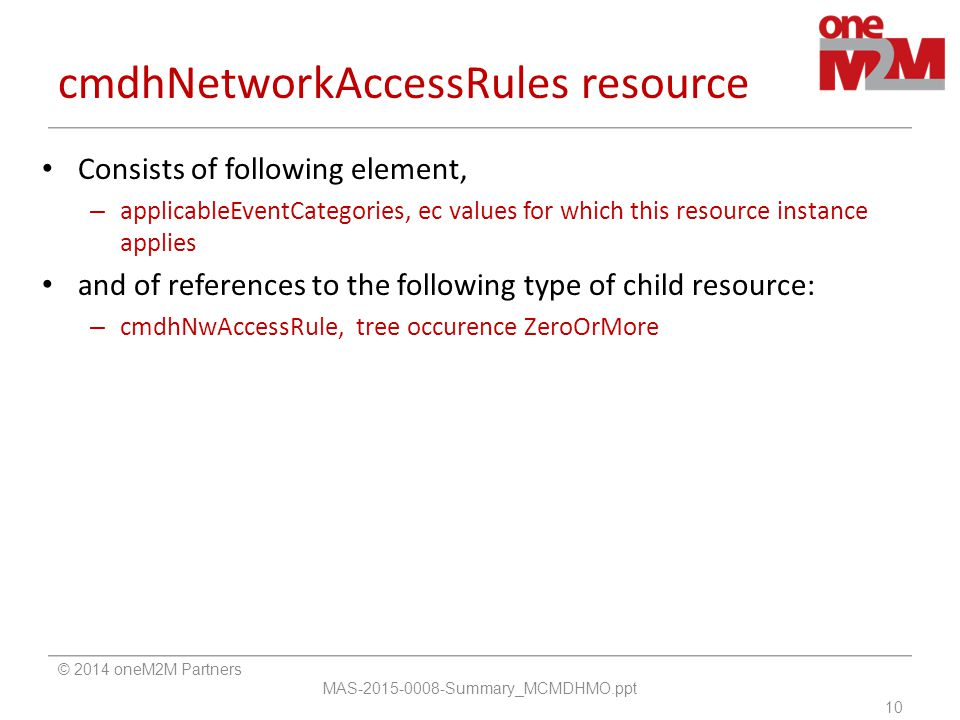 cmdhNetworkAccessRules resource