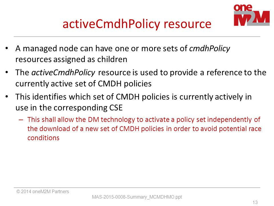 activeCmdhPolicy resource