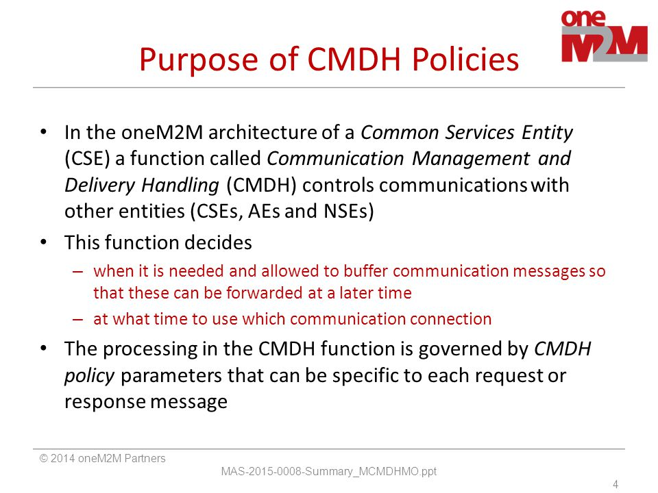 Purpose of CMDH Policies