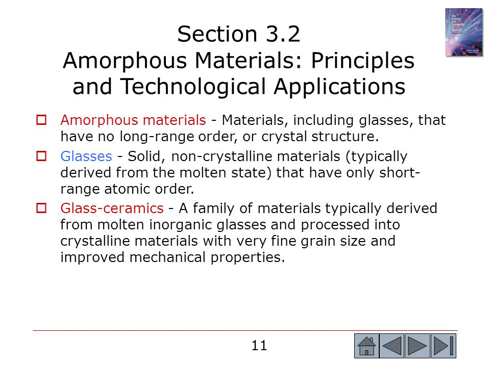 Section 3.2 Amorphous Materials: Principles and Technological Applications