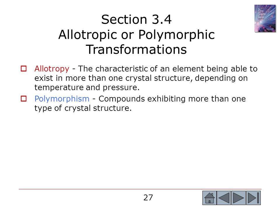 Section 3.4 Allotropic or Polymorphic Transformations