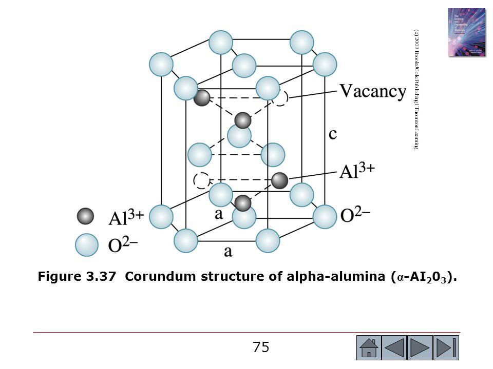 Figure 3.37 Corundum structure of alpha-alumina (α-AI203).