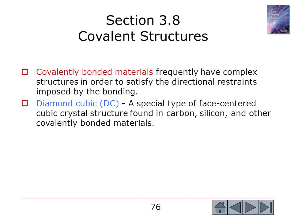 Section 3.8 Covalent Structures