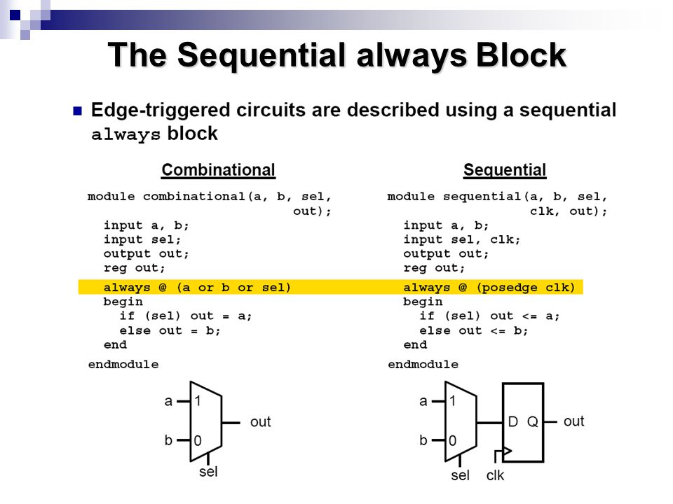 The Sequential always Block