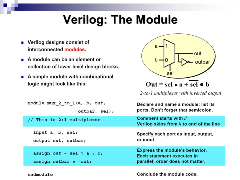 Verilog: The Module