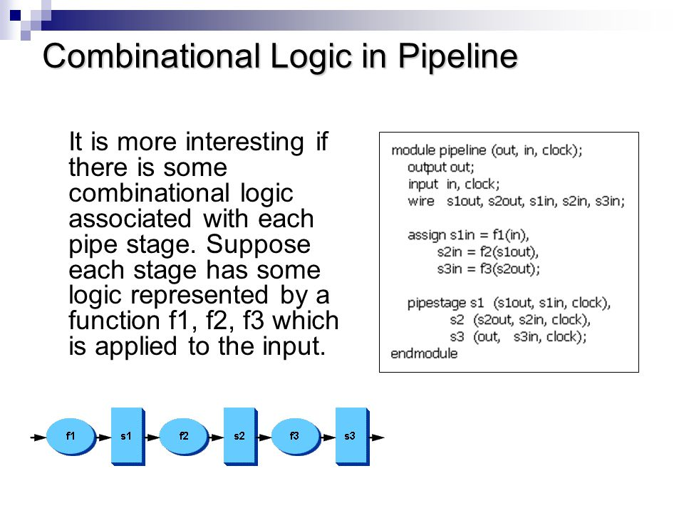 Combinational Logic in Pipeline