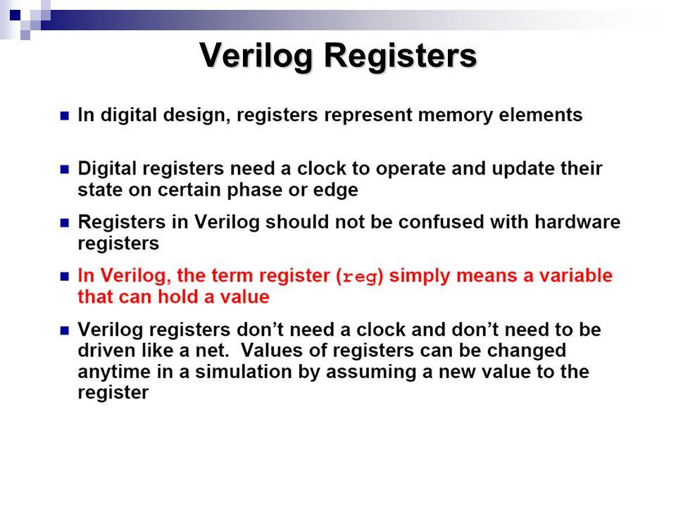 Verilog Registers