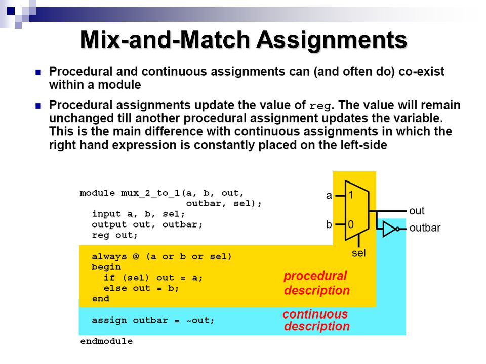 Mix-and-Match Assignments