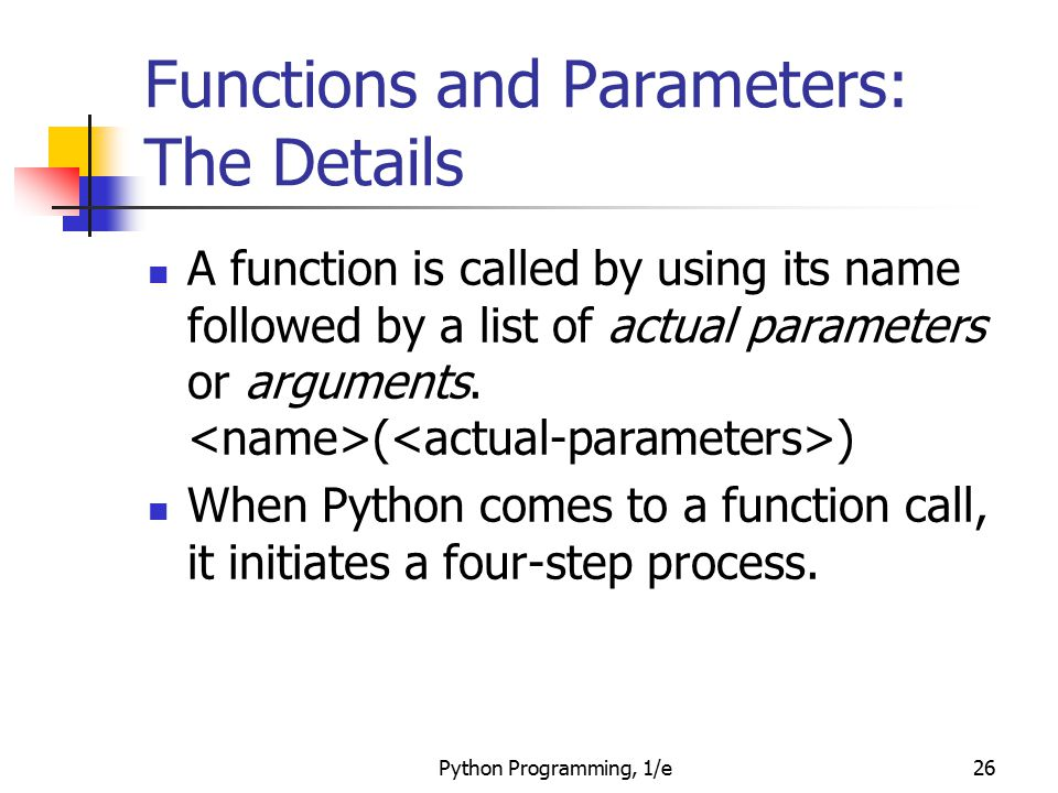 Functions and Parameters: The Details