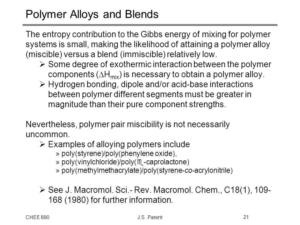 Polymer Alloys and Blends