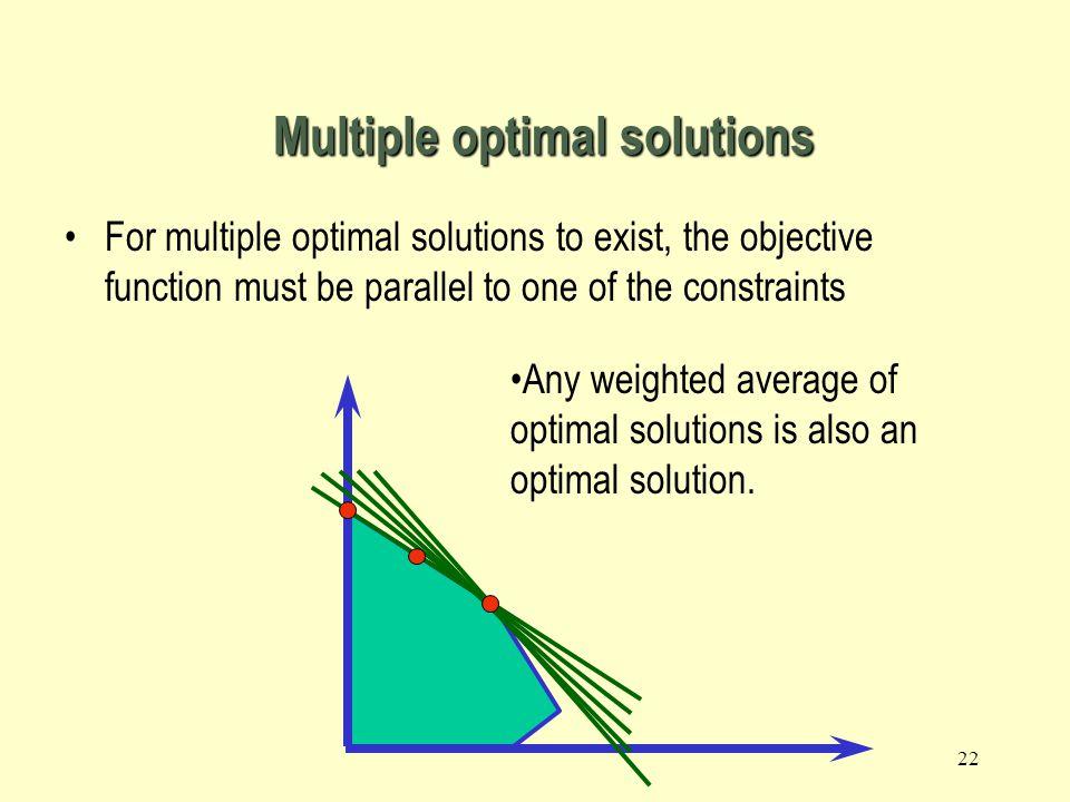 Multiple optimal solutions