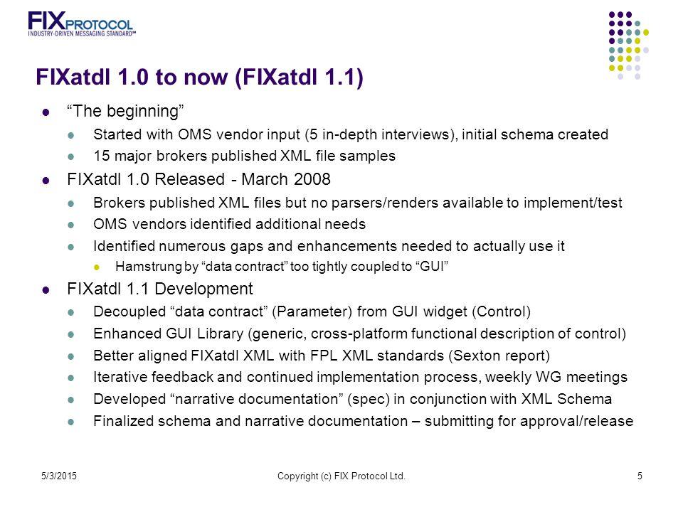 FIXatdl 1.0 to now (FIXatdl 1.1)