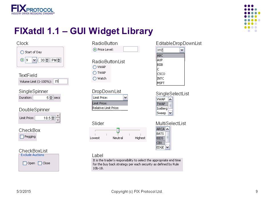 FIXatdl 1.1 – GUI Widget Library