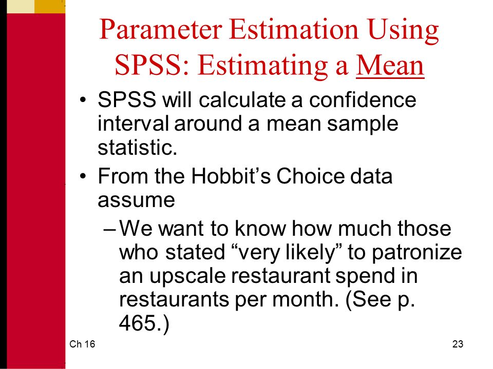 Parameter Estimation Using SPSS: Estimating a Mean