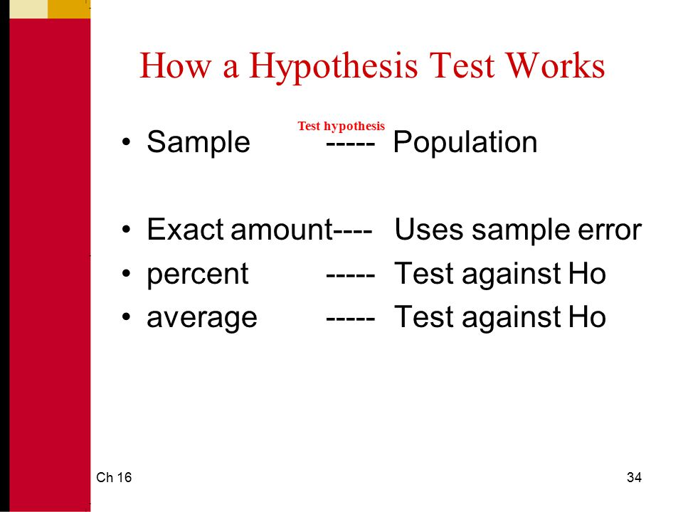 How a Hypothesis Test Works