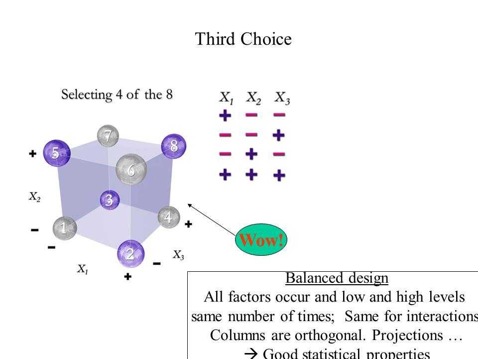 Third Choice Wow! Balanced design