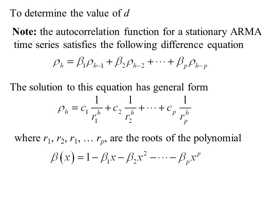 To determine the value of d