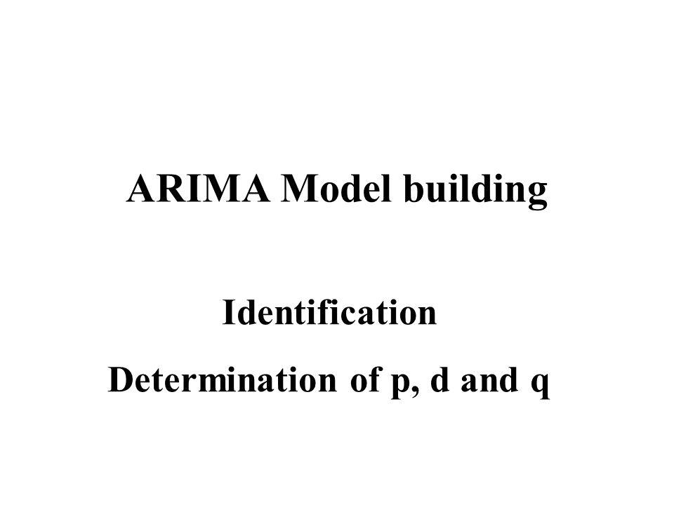 Determination of p, d and q