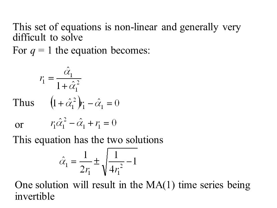 This set of equations is non-linear and generally very difficult to solve