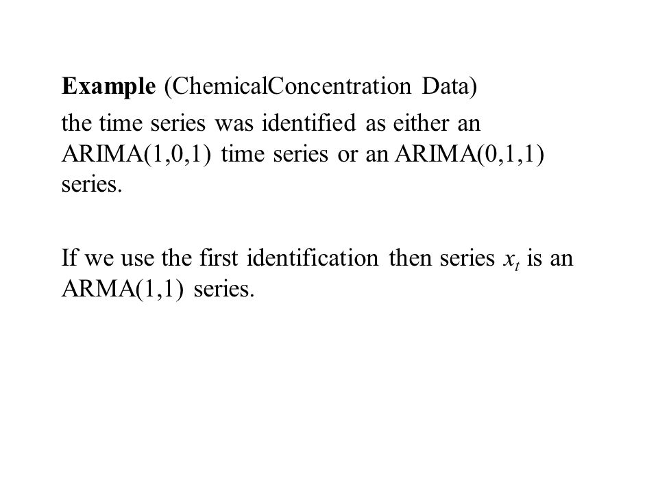 Example (ChemicalConcentration Data)