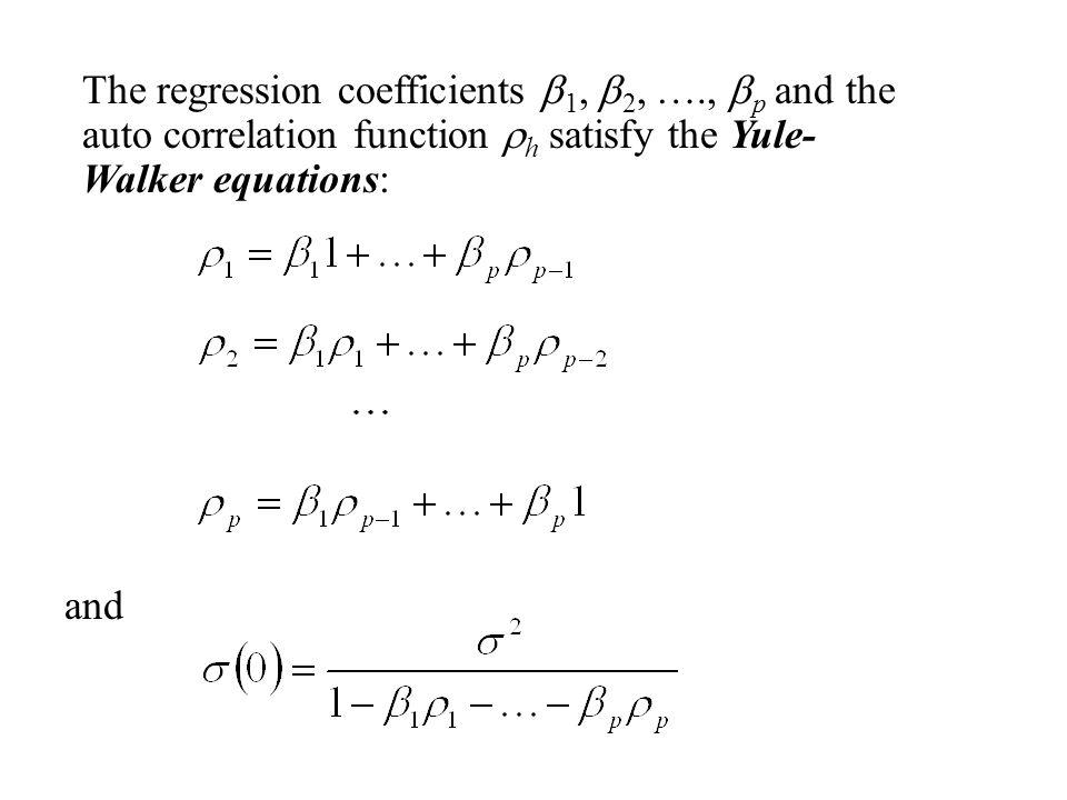 The regression coefficients b1, b2, …