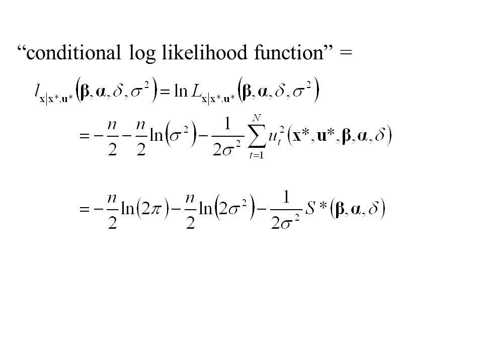 conditional log likelihood function =