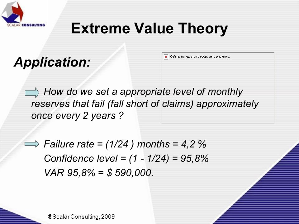 Extreme Value Theory Application: