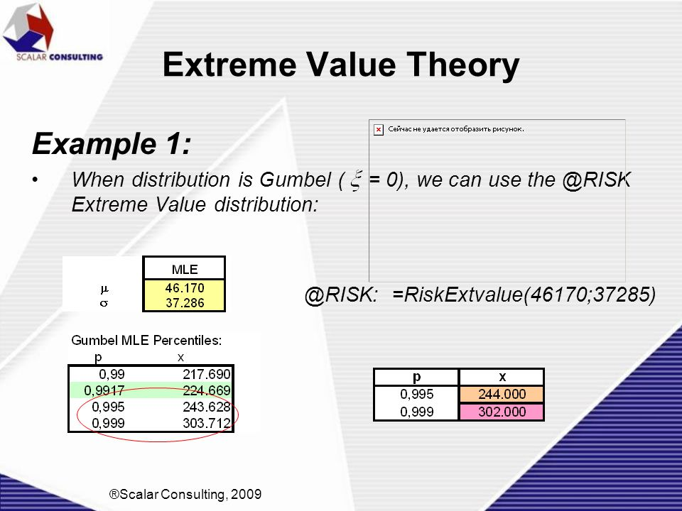 Extreme Value Theory Example 1: