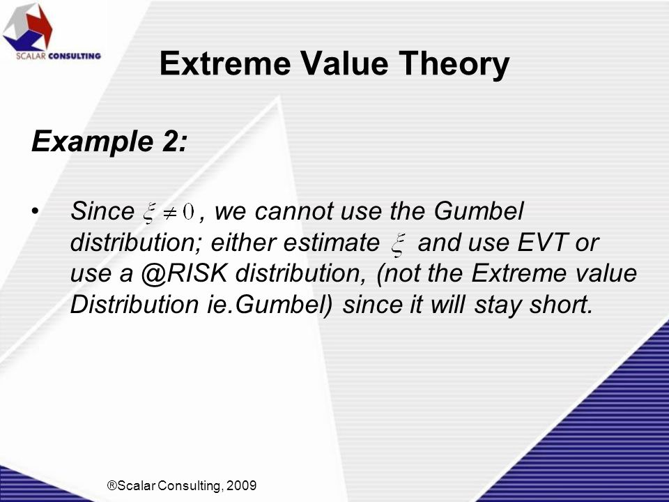 Extreme Value Theory Example 2: