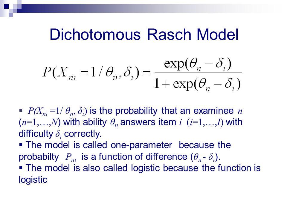 Dichotomous Rasch Model