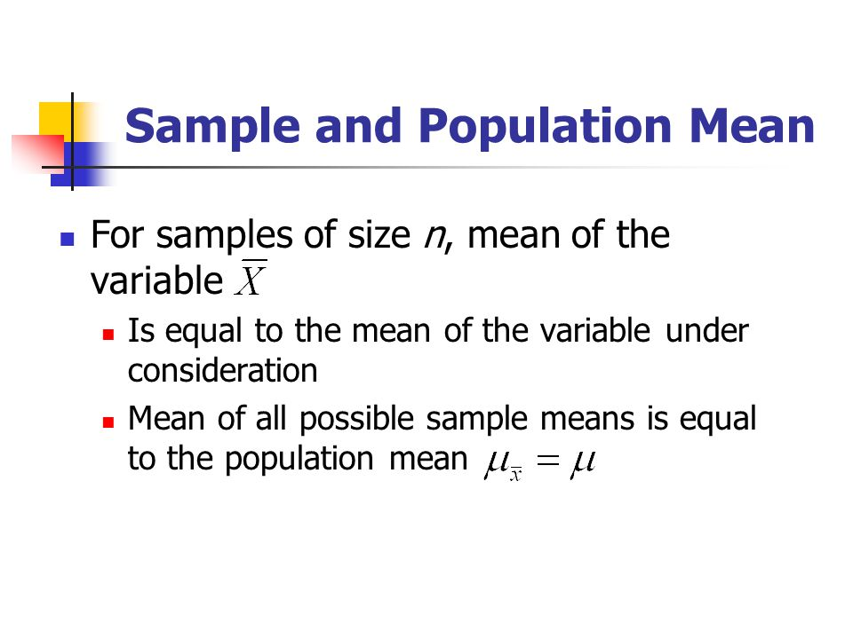 Sample and Population Mean