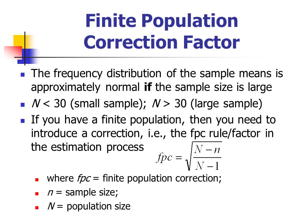 Finite Population Correction Factor
