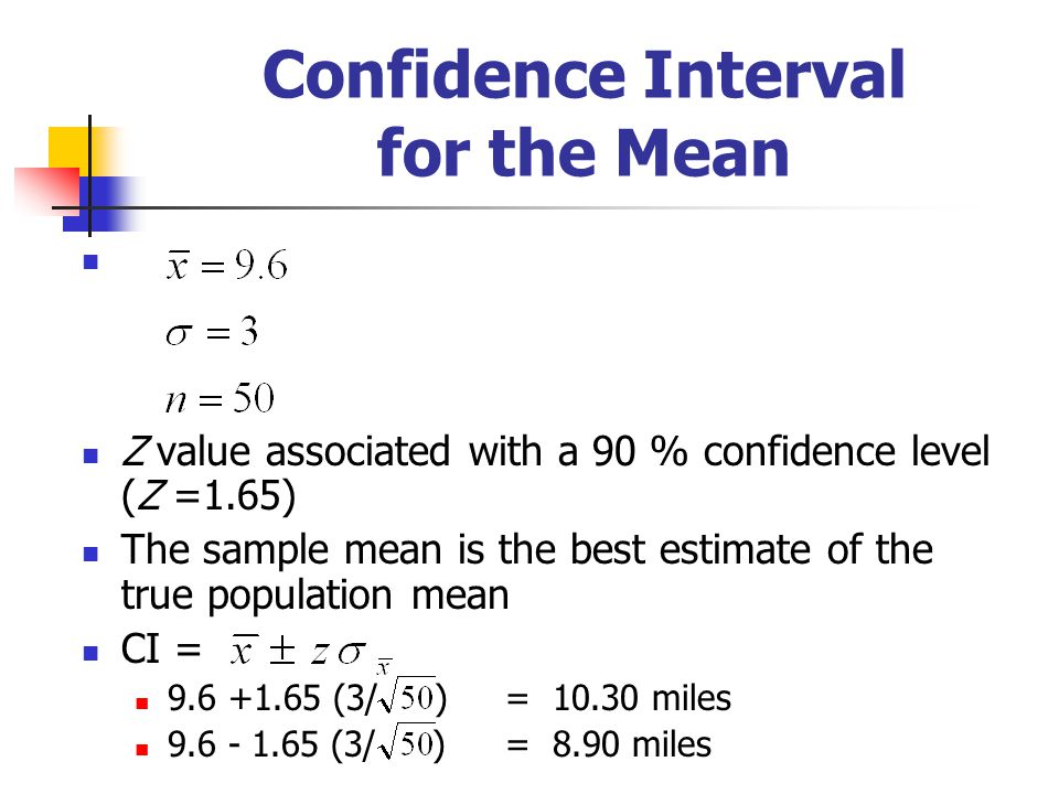 Confidence Interval for the Mean