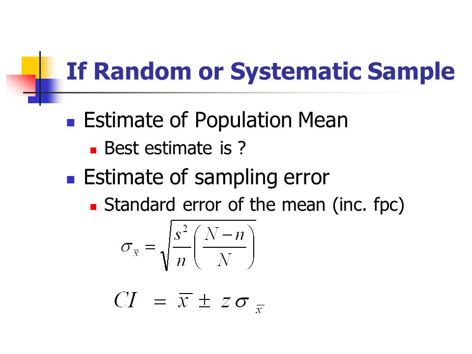 If Random or Systematic Sample