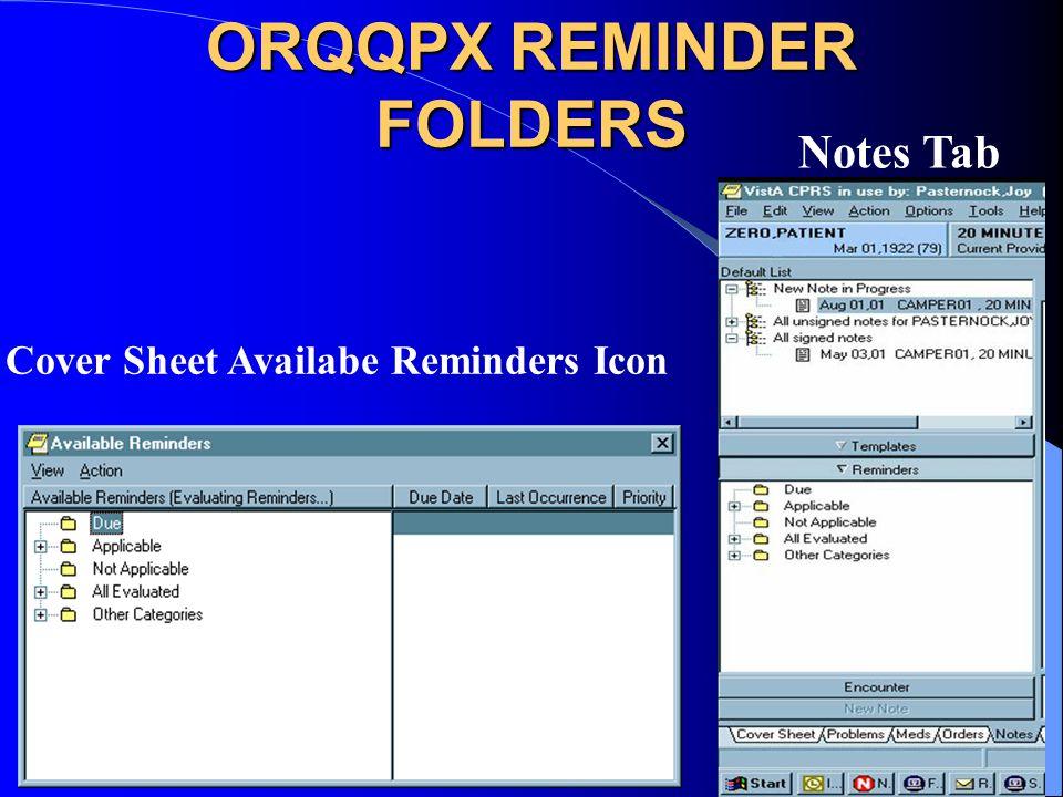 ORQQPX REMINDER FOLDERS