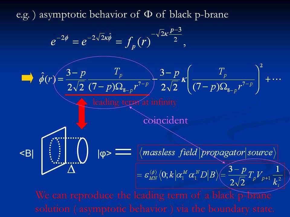 e.g. ) asymptotic behavior of Φ of black p-brane