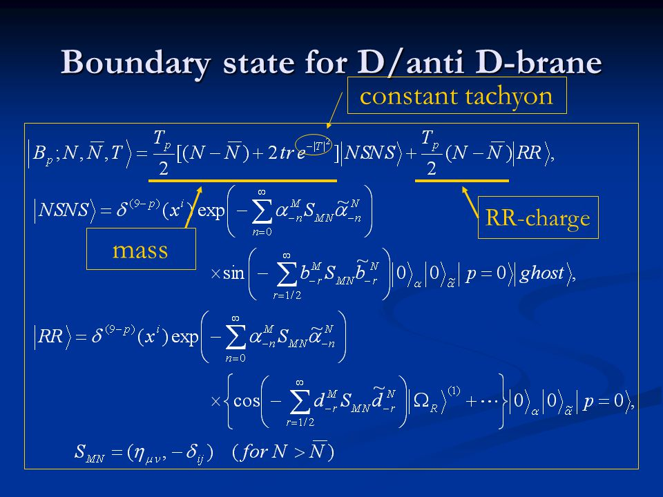 Boundary state for D/anti D-brane