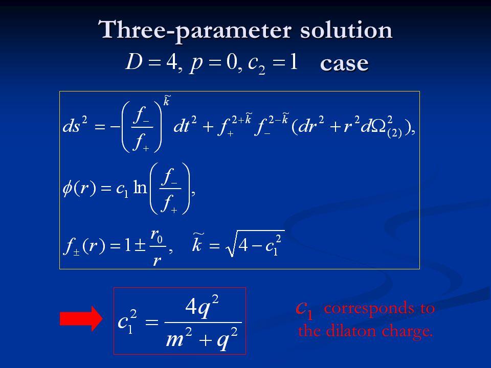 Three-parameter solution case