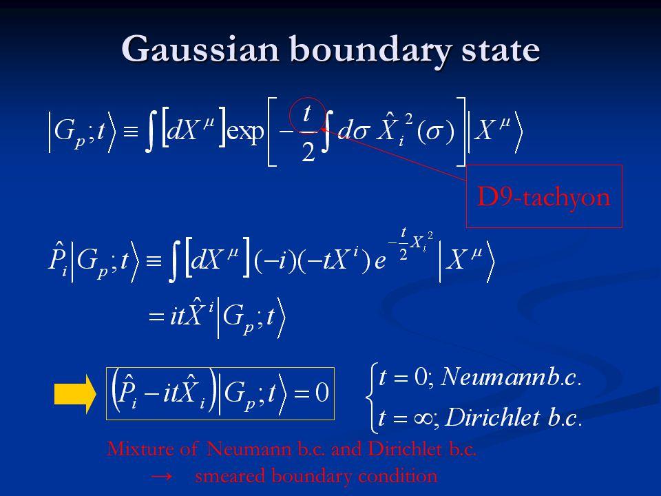 Gaussian boundary state