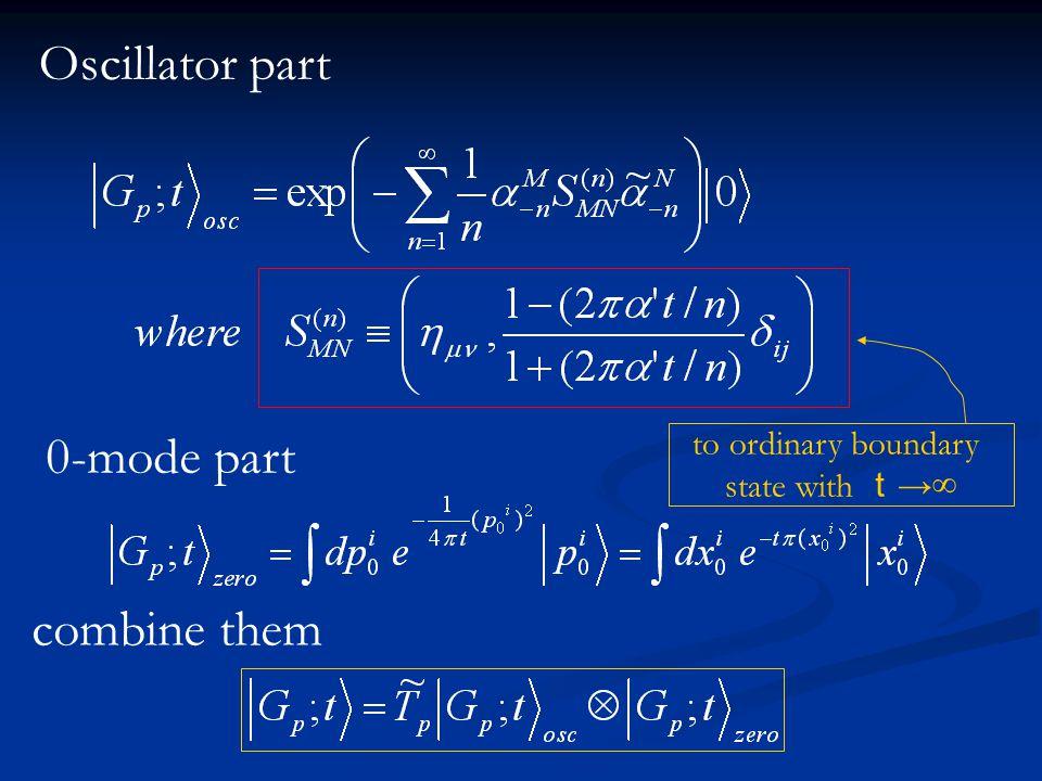 Oscillator part 0-mode part combine them to ordinary boundary