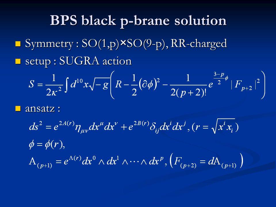 BPS black p-brane solution