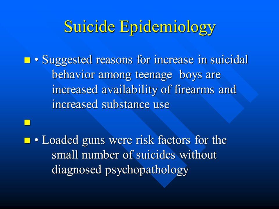 Suicide Epidemiology