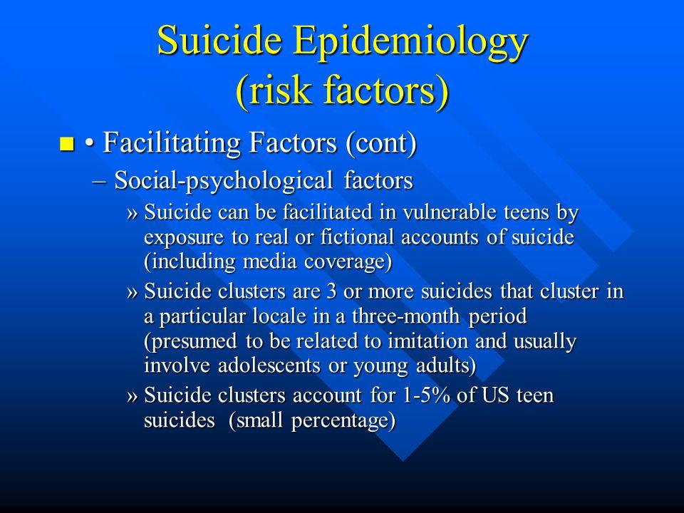 Suicide Epidemiology (risk factors)